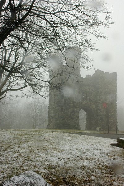 Fog and Snow at the tower.