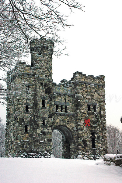 Bancroft Tower decked out for the Holidays.