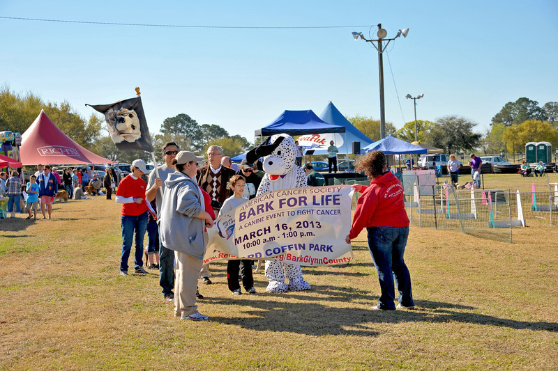 Bark for Life - American Cancer Society - A Canine Event to Fight Cancer - Brunswick, Georgia 03-16-13