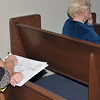 """Hofwyl-Broadfield Plantation 02-23-10 Talk given by Faye - Ed Hose (artist) drawing """"notes"""" before painting Hofwyl's Watchdawg"""