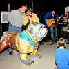 Music at Gallery 209 during First Friday 03-05-10 in downtown Brunswick, Georgia. Notice Hofwyl Plantation's Humane Society Dawg painted by Ed Hose right in Gallery 209!