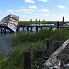 Marshside Grill Waterfront in Brunswick, Georgia after Hurricane Matthew 10-10-16