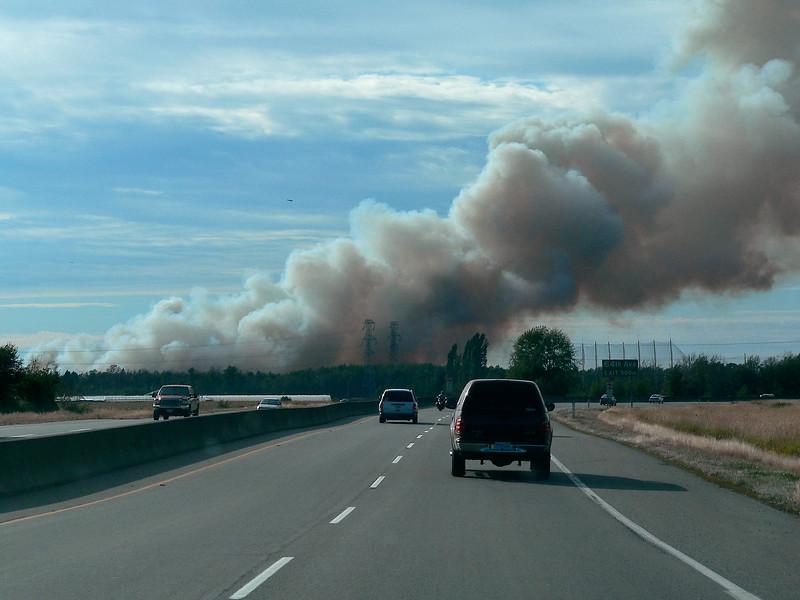 Burn's Bog Forest Fire 2005-09-11