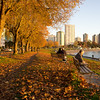 A beautiful fall day at English Bay beach.