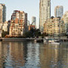 "This view of Vancouver from Granville Island was taken with my Sony NEX-5's ""Sweep Panorama"" feature: I just held down the shutter and slowly panned from left to right.  The camera took a series of images and automatically stitched them together in a matter of seconds!"