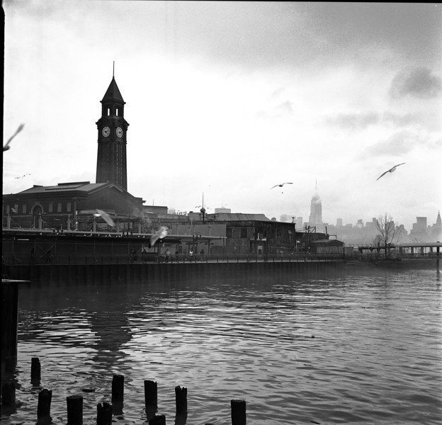 Hoboken Terminal in fog - February 2012