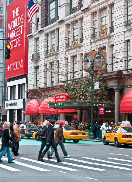 Macy's Department store.....the crowds out in droves to see the annual window displays.