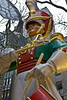 The oversized drummer boy is located at Rockefeller Center.