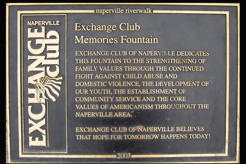 Exchange Club Fountain Plaque