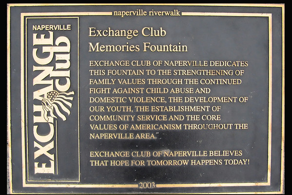 Exchange Club Fountain Plaque