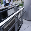 Detail of the railings along the High Line.