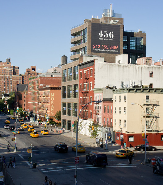 The city from above: a street view from the High Line.