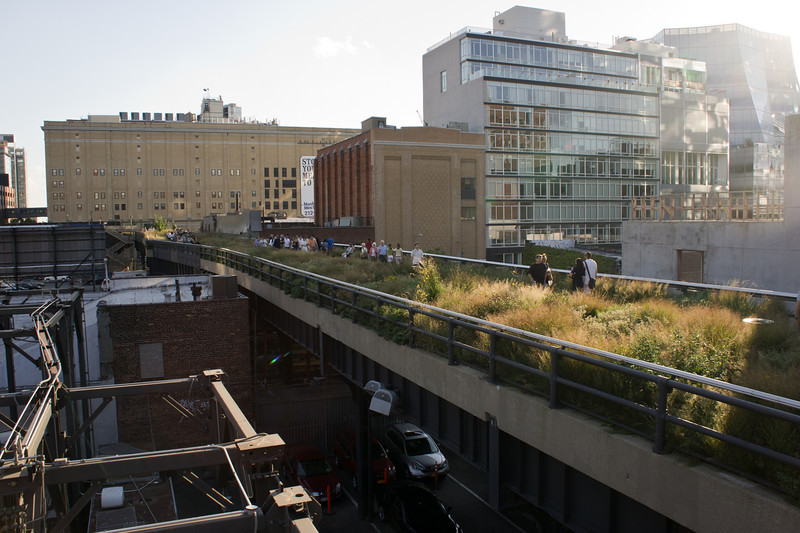 Near the north end of the High Line.
