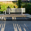 One of the custom-designed benches along the High Line.