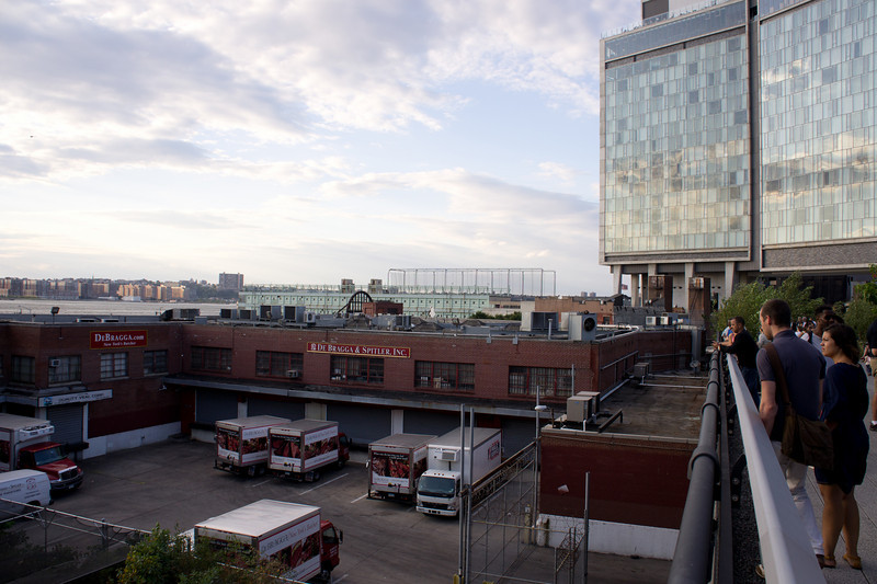 """Overlooking one of the few meat-packing companies remaining in the Meatpacking District.  De Bragga & Spitler, """"New York's Butcher,"""" now use trucks rather than trains."""