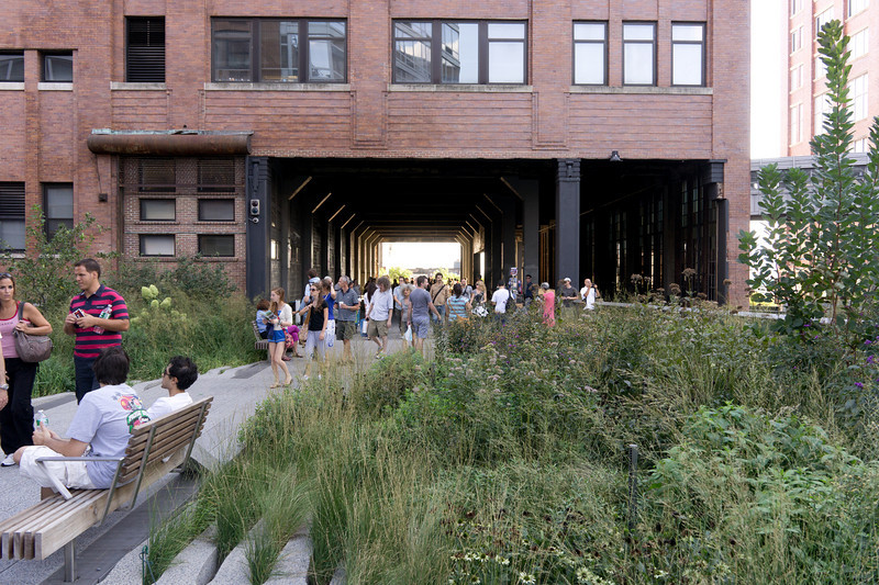 The High Line continues right through the middle of an old meat-packing plant.