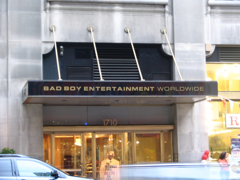 P. Diddy's Bad Boy Entertainment on Broadway. Pretty quiet on a Saturday afternoon.