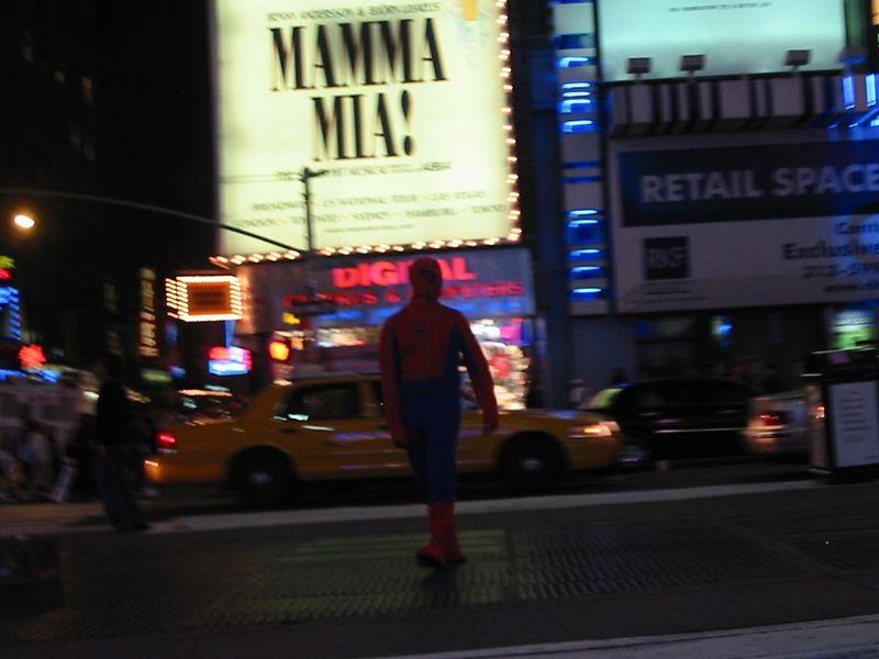 Times Square Spiderman