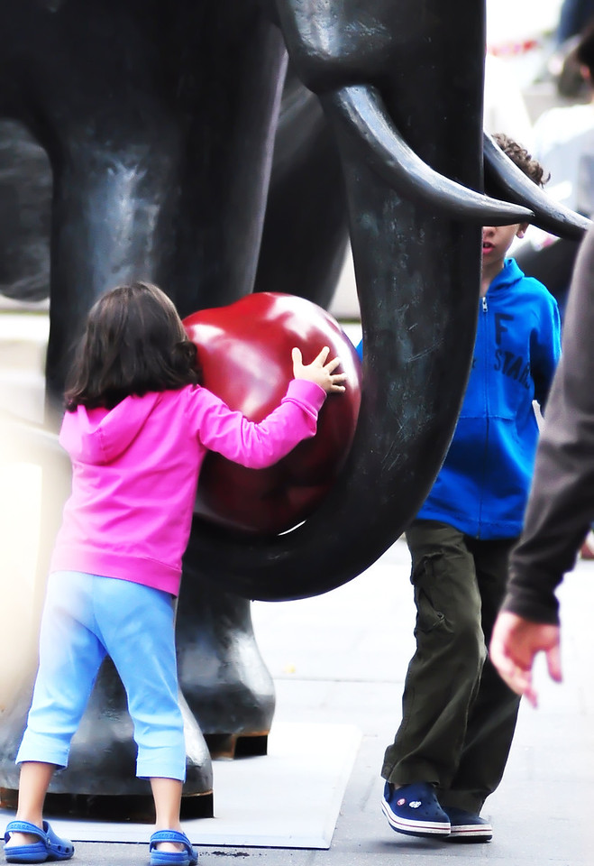 Feeding the Elephant in Columbus Circle