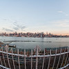Besides shooting a panorama the only way to get all of Manhattan into one image is to use a fisheye lens.  I have a 10mm that I used for this.