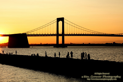 Throgs Neck Bridge connecting Bayside, Queens to the Bronx.