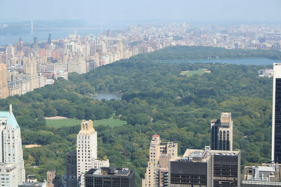 Central Park and Upper West Side From Top Of The Rock