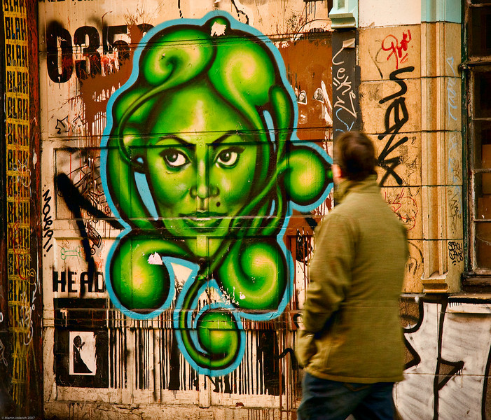 Green Lady Graffitti, Lower East Side, NYC