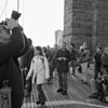 This is a candid shot of the gang of photographers I was with.  There were about 35 of us on the Brooklyn Bridge.  Included in our number was one guy from Bangkok, Thailand.  Two from Germany, one from Norway and another from England.  It made for a very interesting group of people including 3 women.