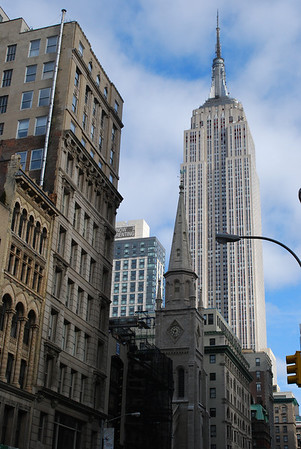 Empire State Building and Church