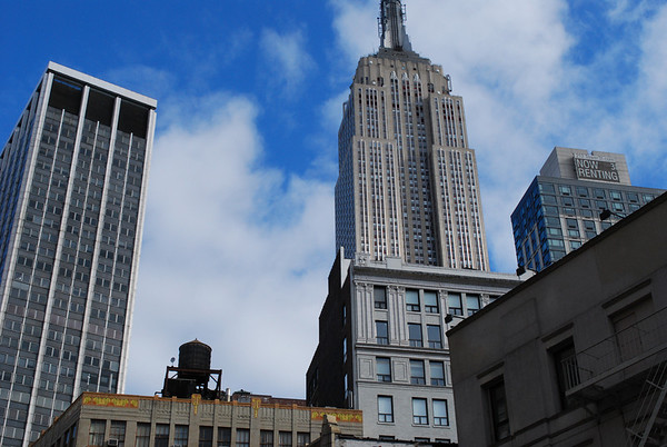 Empire State Building and water tank