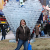 Linda feelin' the Time Square Love