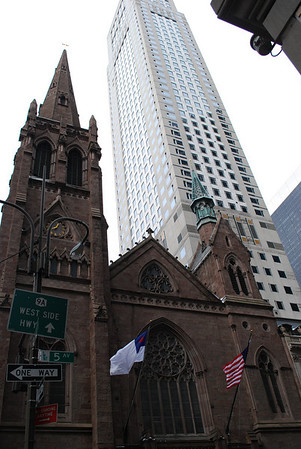 Church and Skyscrapers