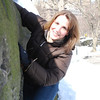 Linda rock climbing in Central Park