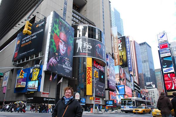 Christina in Time Square