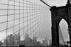 011  New York - Brooklyn Bridge, gate and skyline Manahattan