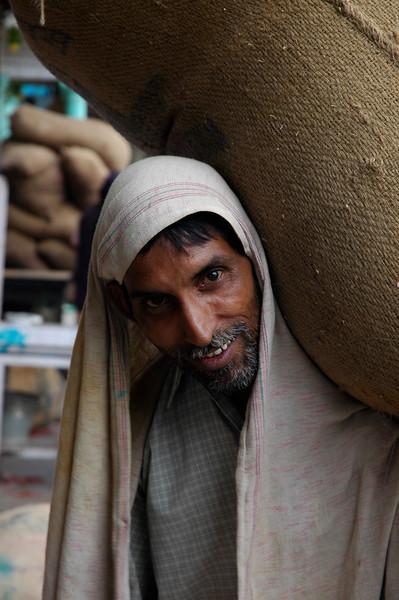 Old Delhi-8<br /> Spice Market Worker