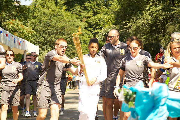 Then we had a young 2012 Olympic torchbearer