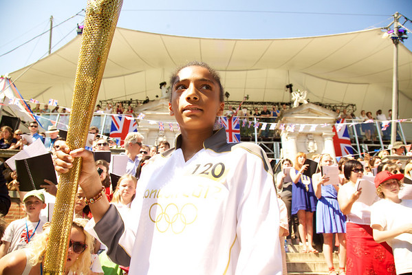 And then she was off, to pass the Olympic torch to the next bearer.<br /> Wow, I cant believe I was there!