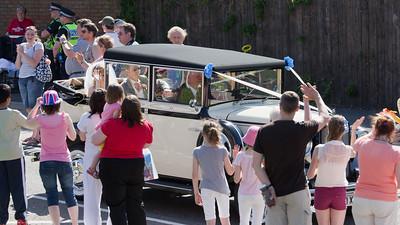 ...then a wedding car came...