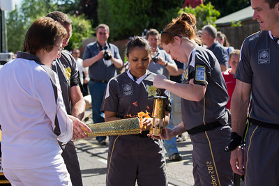 Olympic Torch Relay at Pyle- 26 May 2012