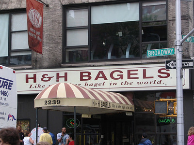 H&H Bagels, 80th & Broadway - Kramer and his co-workers stage a walk-out and Kramer remains on strike for over 10 years until the government resets the federal minimum wage to what Kramer was seeking. He then goes on strike again after only a few days on the job because he is forced to work on Festivus.