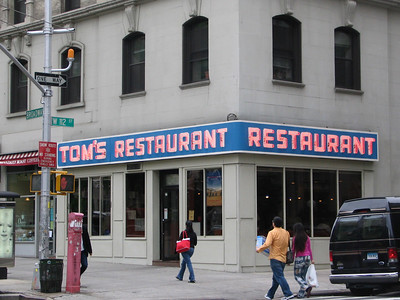 Tom's Restaurant, aka 'The Coffee Shop', 2880 Broadway.