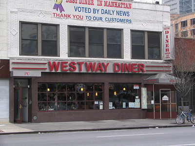 Westway Diner, 614 9th Avenue - The inspiration for Monk's Coffee Shop. Jerry and co-creator Larry David used to spend time here before the show took off.