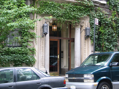 Mr. Pitt's apartment, 640 West End Avenue - (there actually isn't a number 640 on West End Avenue but this building would be it. The front door is on W 91st at the corner of West End Avenue).