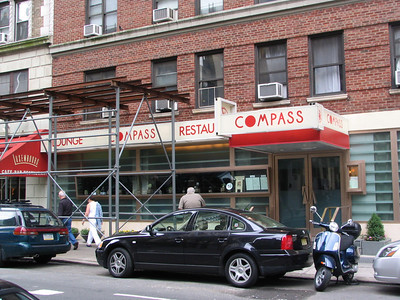 Mendy's - This is the Compass Lounge at 208 W 70th Street but the address should have been for Mendy's - the restaurant that Kenny Banya raves about and where he got his free 'meal' from Jerry in exchange for an Armani suit. I think I have the right location because I've seen other photos of this building but with different restaurants.