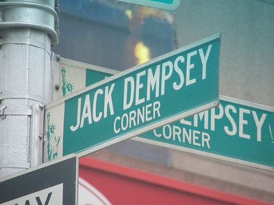 Jack Dempsey's Broadway Bar is long gone but the City of New York officially memorialized the spot.
