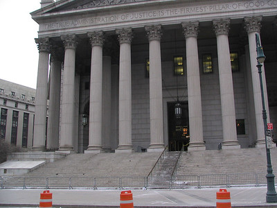 New York Sate Supreme Courthouse. On the steps was where Don Barzzini was assasinated.