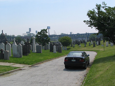 Calvary Cemetary, Brooklyn. The Don's funeral procession.