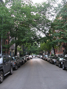 This neighborhood was used as Hell's Kitchen in the Godfather Part II. All of the trees were removed and major changes were made to the facades of each building.