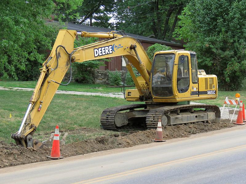 The Deere 160LC excavator.